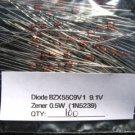 100 - BZX55C9V1 0.5W (1N5239) 9.1V ZENER DIODE IN5239