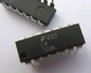 10pcs - LM324 (LM324N 324N LM 324) Quad Op Amp 14-DIP