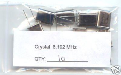 10pcs - 8.192MHz CRYSTALS (8.192 MHz) - Bargain!