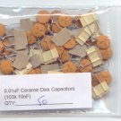 50pcs - 0.01uF Ceramic Disk Capacitors ( 103K - 10nF )