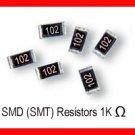 50pcs - 1K Ohm SMD Resistor 0603 1/10W 5%(1000 1 K SMT)