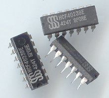 10pcs- CD4023 3-Input NAND gates. 14pin DIP (CD 4023)