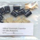 10pcs- 1000uF Electrolytic Capacitors 85c (1000 uf mf)