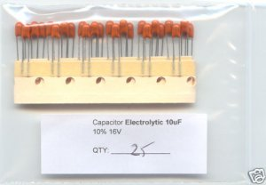 25pcs - 10uF 16V TANTALUM CAPACITORS 10 uF MF. Bargain!
