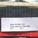 100 - 1N748A 0.5W (1N5228B) 3.9V ZENER DIODE IN748A