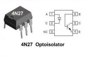 10pcs- OPTOISOLATOR MOTOROLA 4N27 (4N 27 optocoupler)