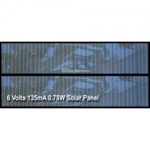 Solar Panel, 6 Volts 0.78W 135mA polycrystalline