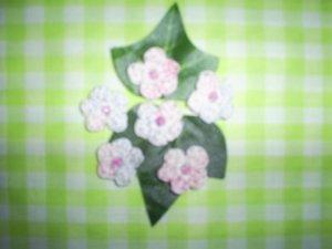 Hand Crochet Mini Flower Embellishments (Set of Six)Light  Pastels