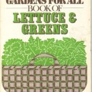 The Gardens for All, Book of Lettuce & Greens, 1980,  Softcover