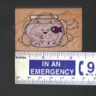 """""""Just Looking"""" Rubber Stamp Mounted on Wood #553D"""