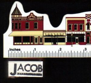 """""""JACOB"""" Vintage Rubber Stamp Mounted on Wood"""