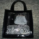Black Cosmetic Carry-All & Accessories, New
