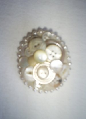 Handcrafted Brooch/Vintage  Buttons,  New