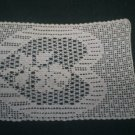 Vintage Filet  Crochet Table Scarf Doily Set, Very Nice