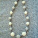 """Vintage  Bead FashionNecklace, 21""""   Blue tones"""