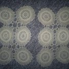 Set of Two, Vintage Hand Crochet  Motif Doilies