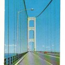 Vintage Postcard,  Straits of Mackinac Bridge, 1960  Very Good Condition