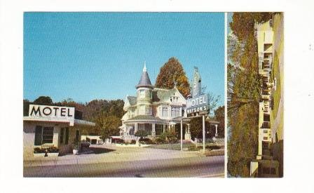 Postcard,  Tower Motel, Hot Springs National Park, Arkansas, Very Good Condition