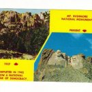 Vintage Postcard, Mt. Rushmore National Monument   Very Good Condition
