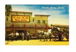 Vintage Postcard, Knott's Berry Farm,  Ghost Town, CA.  Good Condition