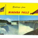 Vintage Postcard, Greetings from Niagra Falls, 1966,  Very Good Condition