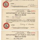 Set of Three Dept. of Public Welfare, Illinois 1940-1942