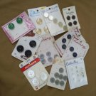 Assortment of carded  Vintage Buttons