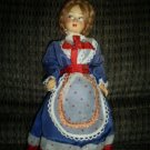 "Vintage Doll Made in Italy, 9"" tall"