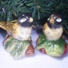 A set of two Vintage Holiday Bird Ornaments