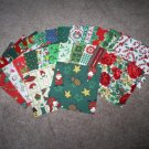 "Assortment of 4"" Holiday Cotton Quilting Squares (26)"