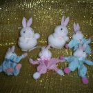 Miniature Bunny Collection, Set of Six, New