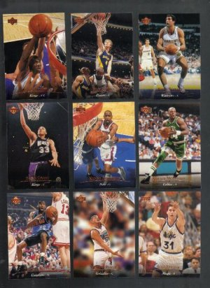 Upper Deck, Nine Near Mint Basketball  Cards, 1995