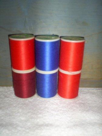 Six Spools Coats & Clark Trusew Polyester Thread, Assorted Colors, T-2