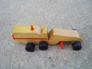 Epoch Co. Vintage Wood Toy Road Grater, Construction Toy 1973