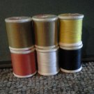 Six Spools Murphy's Mart Polyester Thread, Assorted Colors, T-02