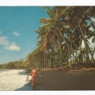 Vintage Postcard, Black Sand Beach.  Very Good Condition