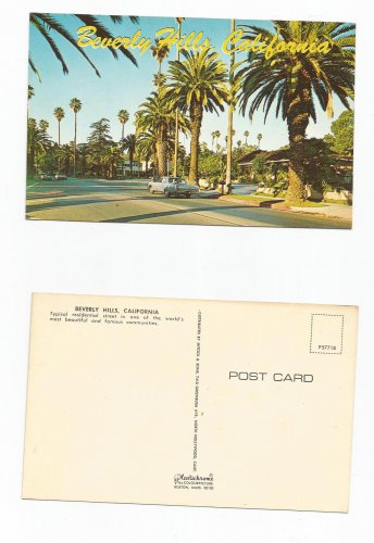 Vintage Postcard, Beverly Hills, California, Good Condition