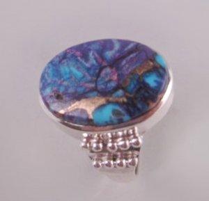 Haunted Purple Phoenix Spirit 925 Sterling Silver Ring sz 8.25