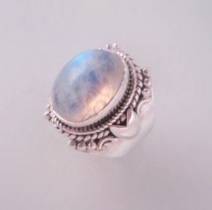 Sacred Tear Moonstone Unicorn Haunted Ring 925 Sterling Silver sz 6.25