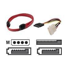 Serial ATA Cable Kit - 4 pin internal power - M 7 pin - 5 pin power 7 pin