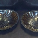 2 Bloomfield Stainless Shell Serving/ CanapeTrays