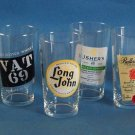 Set of 6 Scotch Label Glasses
