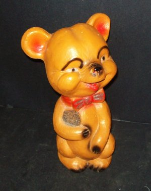 Chalkware Bear Bank 12&quot; Tall Nice!