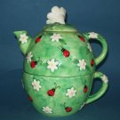 3 Pc. Ladybug Peggy Jo Ackley Teapot Set