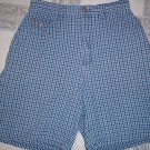 REGATTA BLUE AND WHITE PLAID SHORTS WOMENS SIZE 6