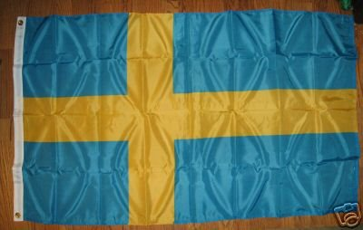 SWEDEN NATIONAL FLAG 3X5 3 X 5 VERY NICE NEW