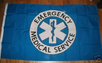EMERGENCY SERVICE FLAG 3 X 5 3X5 NEW EMS