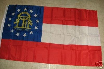 NEW GEORGIA STATE FLAG 3 X 5 3X5 NEW