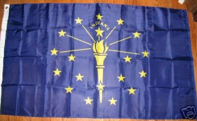 INDIANA HOOSIER PRIDE STATE FLAG 3 X 5 3X5 NEW