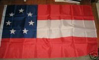 CIVIL WAR FIRST CONFEDERATE FLAG SIZE 3X5 3 X 5 NEW